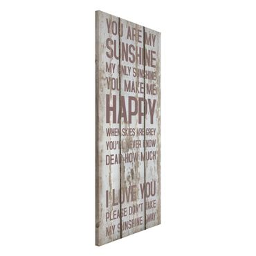 Lavagna magnetica - No.RS182 Sunshine - Panorama formato verticale