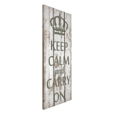 Lavagna magnetica - No.RS183 Keep Calm And Carry On - Panorama formato verticale
