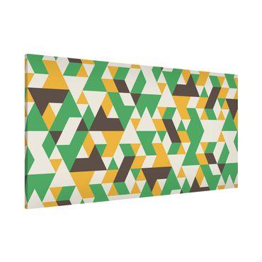 Lavagna magnetica - No.RY34 Green Triangles - Panorama formato orizzontale
