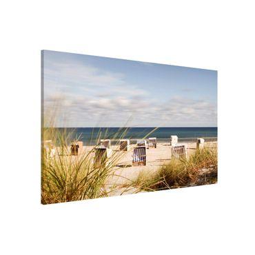 Lavagna magnetica - Baltic Sea And Beach Chairs - Formato orizzontale 3:2