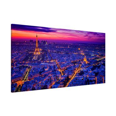 Lavagna magnetica - Parigi di notte - Panorama formato orizzontale
