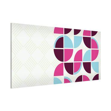 Lavagna magnetica - Retro Circles Pattern Design - Panorama formato orizzontale