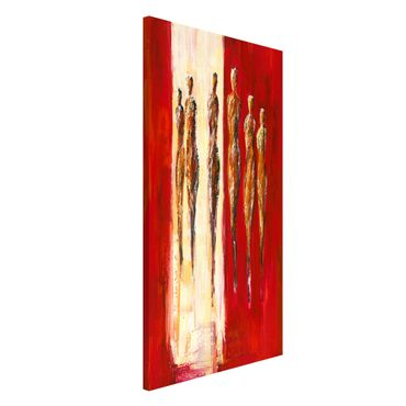Lavagna magnetica - Petra Schüßler - Six Figures In Red - Formato verticale 4:3