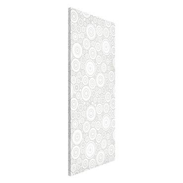 Lavagna magnetica - Secession White Light Gray - Panorama formato verticale