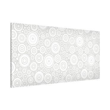 Lavagna magnetica - Secession White Light Gray - Panorama formato orizzontale