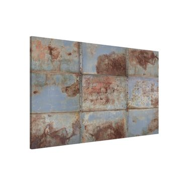 Lavagna magnetica - Shabby Industrial Metal Look - Formato orizzontale 2:3