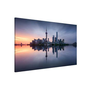 Lavagna magnetica - Skyline di Shanghai Mattina Mood - Formato orizzontale 3:2