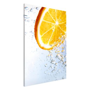 Lavagna magnetica - Orange Splash - Formato verticale