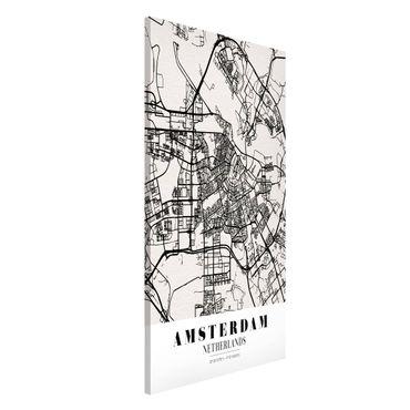 Lavagna magnetica - Amsterdam City Map - Classic - Formato verticale 4:3