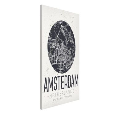 Lavagna magnetica - Amsterdam City Map - Retro - Formato verticale 4:3