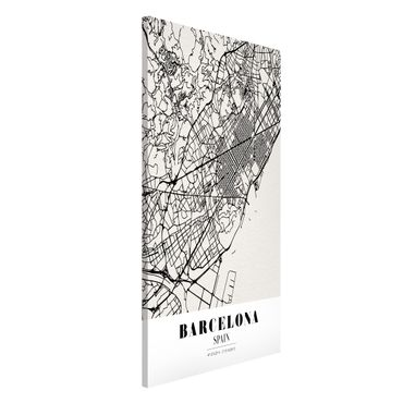Lavagna magnetica - Barcelona City Map - Classic - Formato verticale 4:3