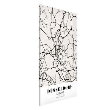 Lavagna magnetica - Dusseldorf City Map - Classic - Formato verticale 4:3