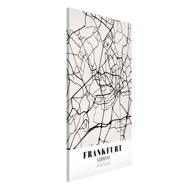 Lavagna magnetica - Frankfurt City City Map - Classical - Formato verticale 4:3