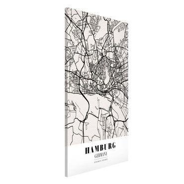 Lavagna magnetica - Hamburg City Map - Classic - Formato verticale 4:3