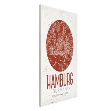Lavagna magnetica - Hamburg City Map - Retro - Formato verticale 4:3