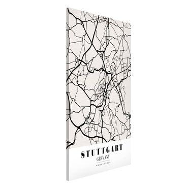 Lavagna magnetica - Stuttgart City Map - Classic - Formato verticale 4:3