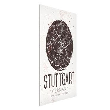 Lavagna magnetica - Stuttgart City Map - Retro - Formato verticale 4:3