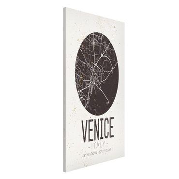 Lavagna magnetica - Venice City Map - Retro - Formato verticale 4:3