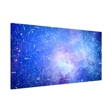 Lavagna magnetica - Constellation Sky Map - Panorama formato orizzontale