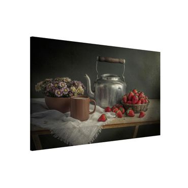 Lavagna magnetica - Still Life with Strawberries - Formato orizzontale 3:2
