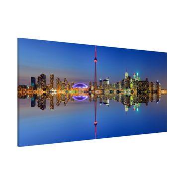 Lavagna magnetica - Toronto City Skyline Before Lake Ontario - Panorama formato orizzontale