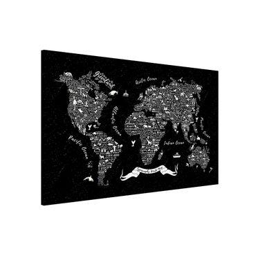 Lavagna magnetica - Typography Welkarte Black - Formato orizzontale 3:2
