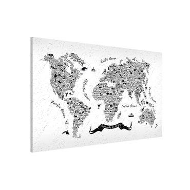 Lavagna magnetica - Typography Welkarte White - Formato orizzontale 3:2