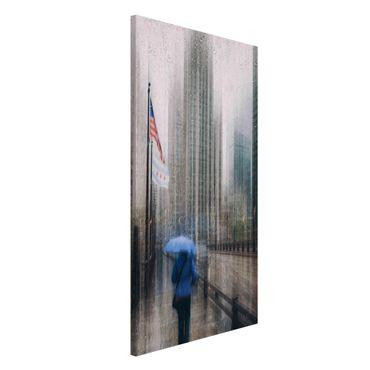 Lavagna magnetica - Rainy Chicago - Formato verticale 4:3