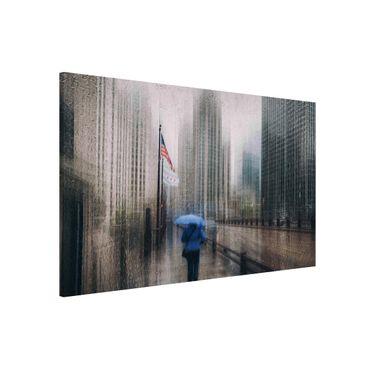 Lavagna magnetica - Rainy Chicago - Formato orizzontale 3:2
