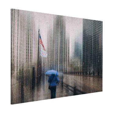 Lavagna magnetica - Rainy Chicago - Formato orizzontale 3:4