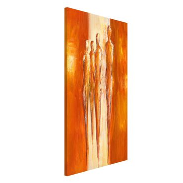 Lavagna magnetica - Petra Schüßler - Four Figures In Orange 02 - Formato verticale 4:3