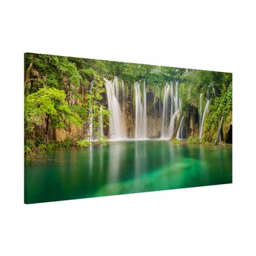 Lavagna magnetica - Waterfall Plitvice Lakes - Panorama formato orizzontale