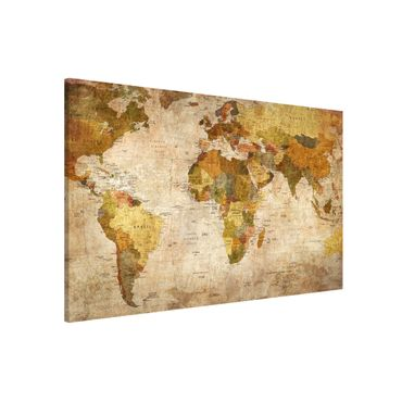 Lavagna magnetica - Map Of The World - Formato orizzontale