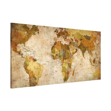 Lavagna magnetica - Map Of The World - Panorama formato orizzontale