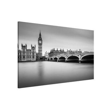 Lavagna magnetica - Ponte di Westminster e il Big Ben - Formato orizzontale 3:2