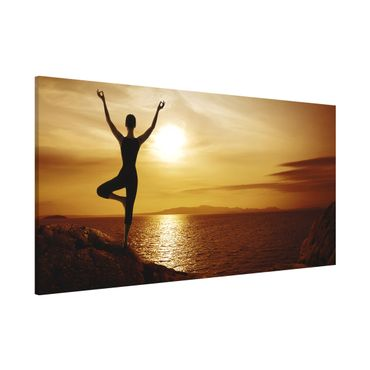 Lavagna magnetica - Yoga - Panorama formato orizzontale