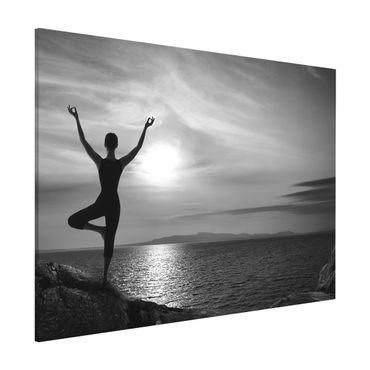 Lavagna magnetica - Yoga White Black - Formato orizzontale 3:4