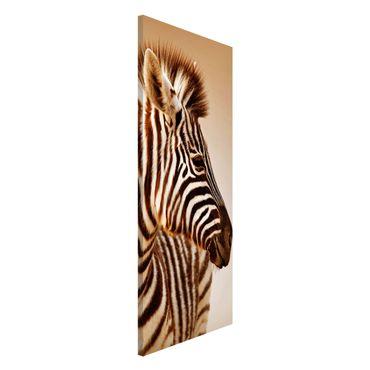 Lavagna magnetica - Zebra Baby Portrait - Panorama formato verticale