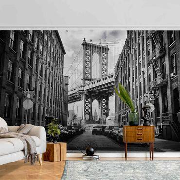 Carta da parati metallizzata - Manhattan Bridge in America