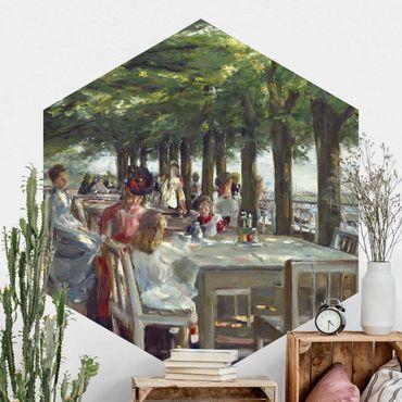 Carta da parati esagonale adesiva con disegni - Max Liebermann - Terrazza del ristorante Jacob