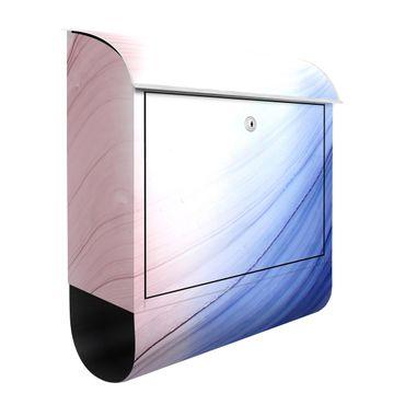 Cassetta postale - Danza di colori mélange blu con rosa