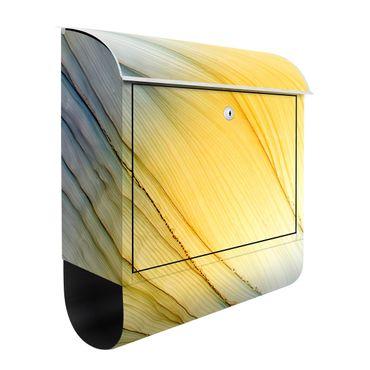 Cassetta postale - Danza di colori mélange in giallo miele