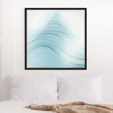 Poster con cornice - Tocco mélange di blu