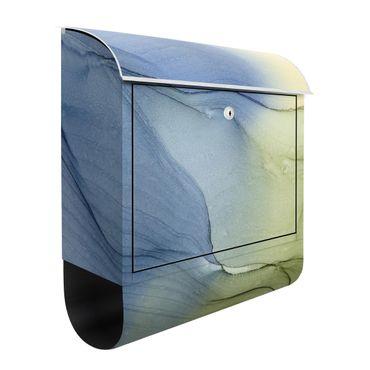 Cassetta postale - Mélange di grigio bluastro con verde muschio