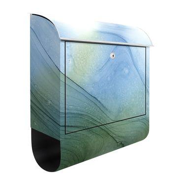 Cassetta postale - Mélange di verde muschio con blu