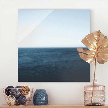 Quadro in vetro - Oceano minimalista