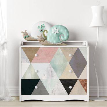 Carta adesiva per mobili - Triangoli a mosaico