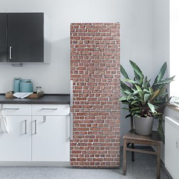 Carta Adesiva per Mobili - Brick tiles red