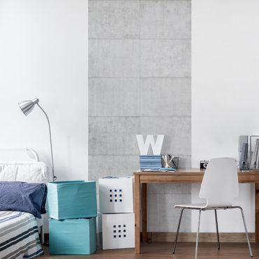 Carta Adesiva per Mobili - Concrete tile optics grey