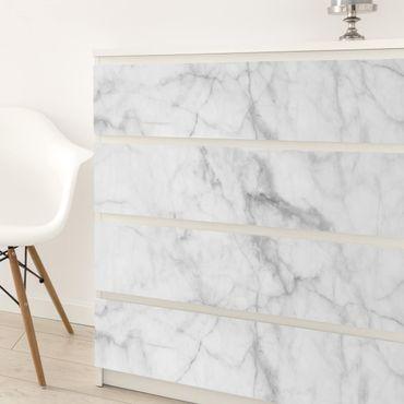 Carta Adesiva per Mobili - Bianco Carrara